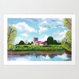 English church Art Print