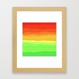 Warm Fall Ombre Framed Art Print