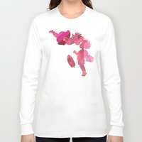 ponyo Long Sleeve T-shirts featuring Ponyo and Sosuke in Pink by foreverwars