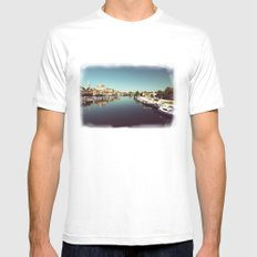 Auxerre White Mens Fitted Tee MEDIUM