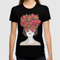 The optimist // rose tinted glasses Black Womens Fitted Tee SMALL