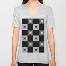 Black And White Illusion Pattern Unisex V-Neck