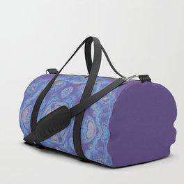 Ultra-violet kaleidoscope mandala with fractal texture Duffle Bag