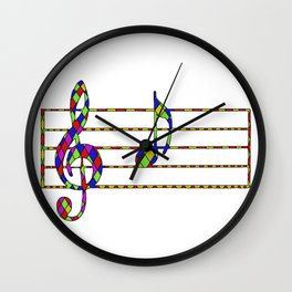'A' Music Note Wall Clock