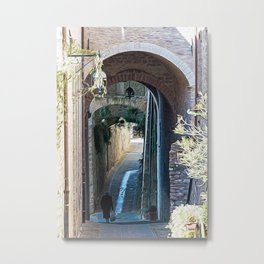 Little alley in Umbria Metal Print