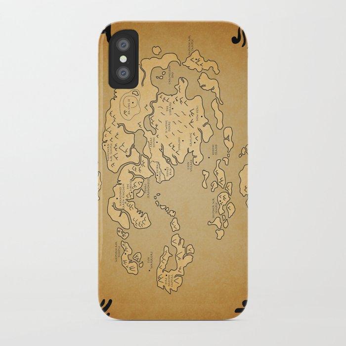 Avatar Last Airbender Map iPhone Case by kewlzidane | Society6