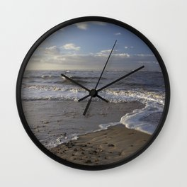 Wave Split on the Beach Wall Clock