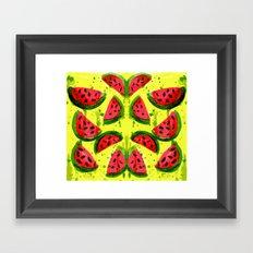 Watermelon Meltdown Framed Art Print