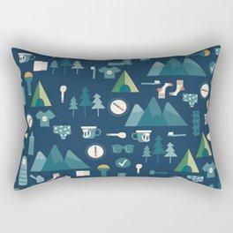 Hiking list Rectangular Pillow