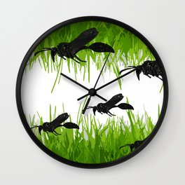 Insect composition Wall Clock