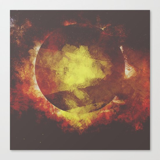The baby moon Canvas Print