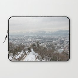 Landscape view of Grenoble after taking the bastille cable car Laptop Sleeve