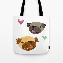 I Heart Pugs Tote Bag