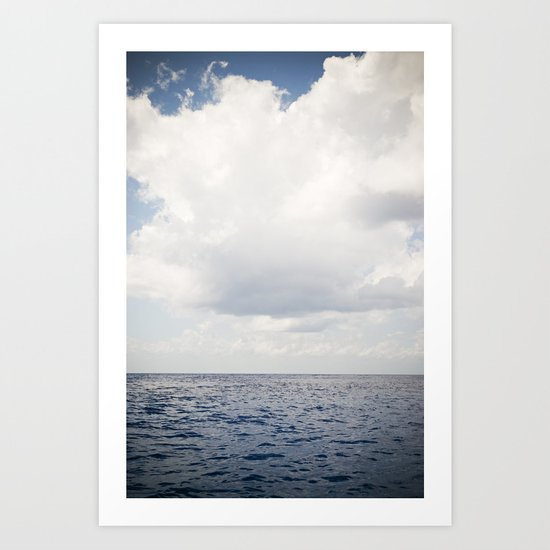Ocean Sea Clouds Art Print