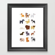A Variety of Dog Breeds Framed Art Print
