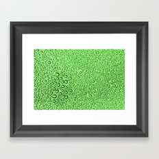Water Condensation 05 Green Framed Art Print