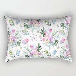 Flower pattern: watercolor Rectangular Pillow