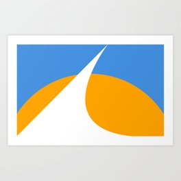 Redding City Flag Art Print