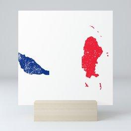 Distressed Wallis and Futuna Islands Map Mini Art Print