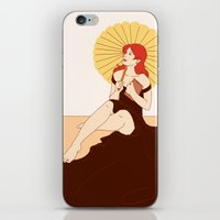 bookworm iPhone & iPod Skins featuring Bookworm by Eva Duplan Illustrations