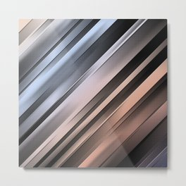 Abstract Diagonal Lines Metal Print