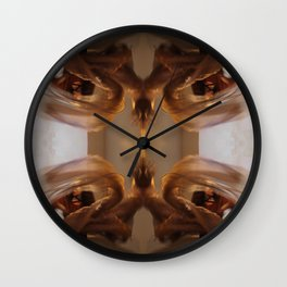 Wind Chimes Spins Wall Clock