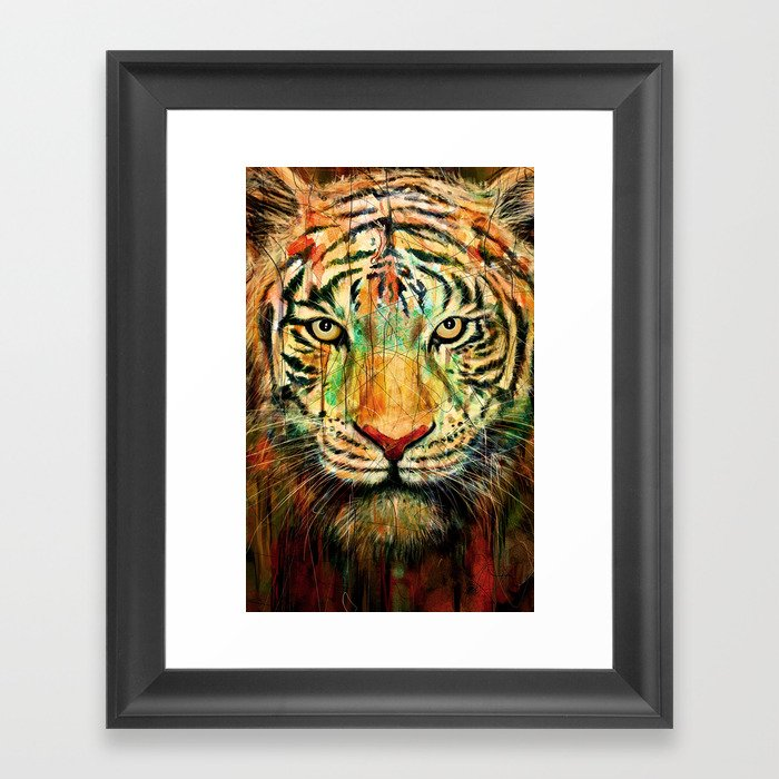 Tiger Framed Art Print by nicebleed | Society6