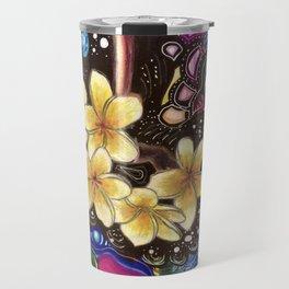Yellow Plumerias Travel Mug