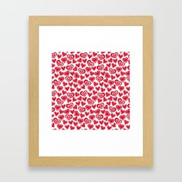 MESSY HEARTS: RED Framed Art Print