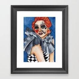 Harlequin - watercolor Framed Art Print