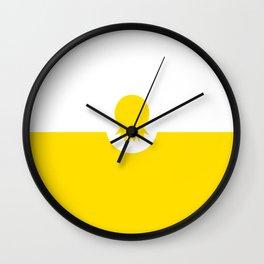 digital pineapple Wall Clock
