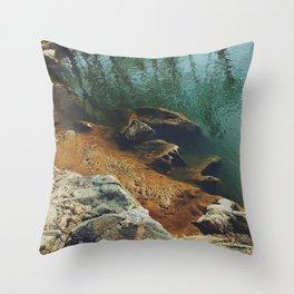 Orange Shore Throw Pillow