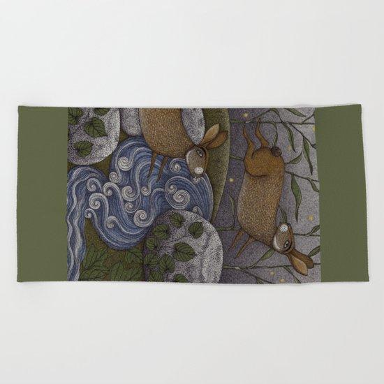 Swamp Rabbit's Reedy River Race Beach Towel