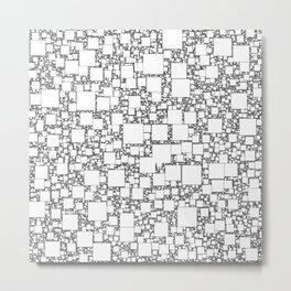 Post It White Metal Print
