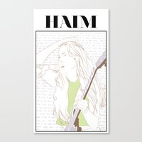 haim Canvas Prints featuring Alana Haim by chazstity