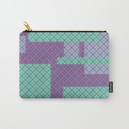 Lilac , turquoise , patchwork Carry-All Pouch