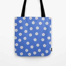 Blue and White Flowers Tote Bag