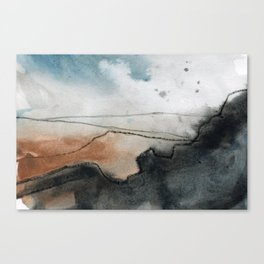 Carl Wark from Higger Tor, Peak District Canvas Print