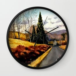 The Country Road Wall Clock