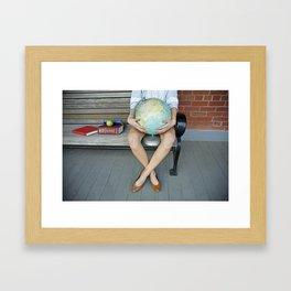 World in her hands Framed Art Print
