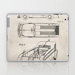 Fire Truck Patent - Fireman Art - Antique Laptop & iPad Skin