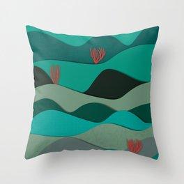 Layered Reef Throw Pillow