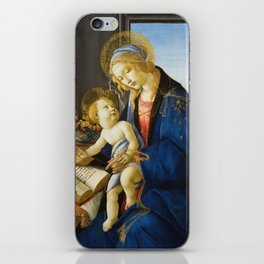 Botticelli  -  The Virgin And Child The Madonna Of The Book iPhone Skin