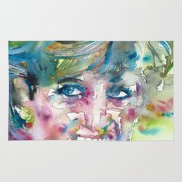 DIANA - PRINCESS OF WALES - watercolor portrait.4 Rug