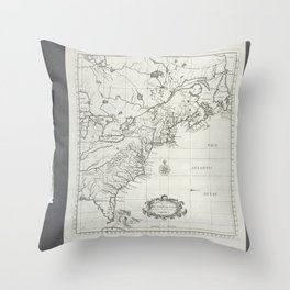 A map of the British-plantations on the continent of America Throw Pillow