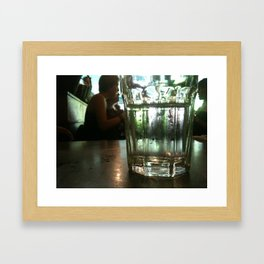 Glass of Water Framed Art Print