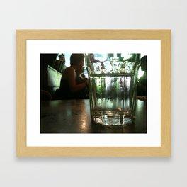 Glass of Water Framed Art Print