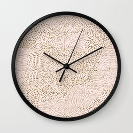 Pink with gold points Wall Clock