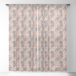 Ovopornis - beige Sheer Curtain