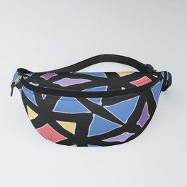 Stained Glass Color Pattern Art Fanny Pack